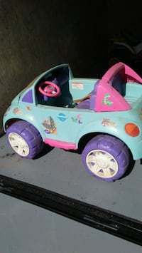 Barbie battery operated car.