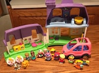 Little People Family Twins & House & Car Set - all for $25 Acheson, T7X