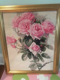 pink and white petaled flower painting 银泉, 20906