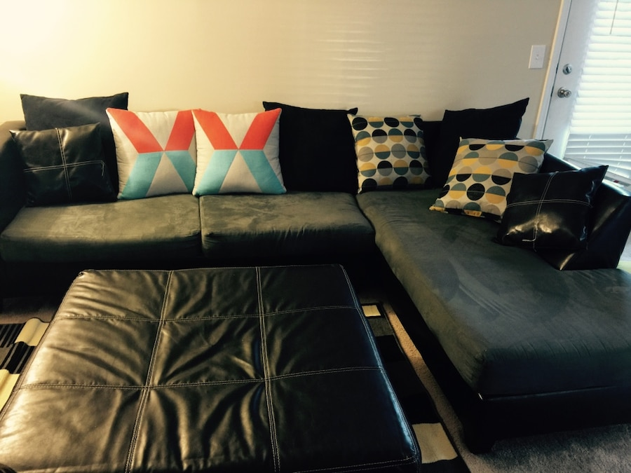 Sectional sofa with large ottoman very comfortable  - Wekiva Springs