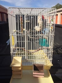 """Large bird cage with feeder bowls and bird gym. Spec height 2' 5"""" by 1' 7"""" Virginia Beach, 23453"""