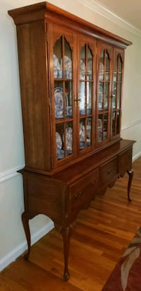 1950s China cabinet, 2 piece Annandale, 22003