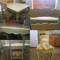 Light green and yellow Kitchen table with 4 chairs Tucson, 85741