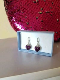 Amethyst Rhodium plated Earrings  Toronto, M9L 2C7