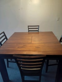 High table wood extendable