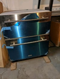 Brand new appliances duo oven and two drawer refrigerator