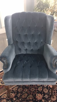 tufted black suede sofa chair Clarksville, 21029
