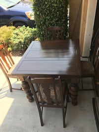 Vintage dining room table with 4 chairs Vista, 92083