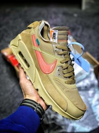 Off White x Nike Air Max 90 Black/Desert Woodlands
