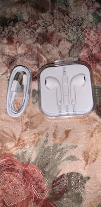 White apple earphones and charger cable Houston, 77076