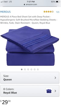 Merous Royal Blue sheets Mississauga, L5N 4L7