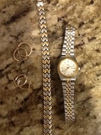 Seiko Watch Bracelet and two pair of gold ear rings Gaithersburg, 20877