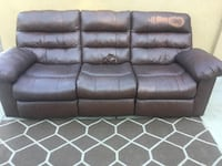 Brown leather 3-seat sofa Los Angeles, 91423