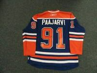 orange and blue Paakarvi 91 jersey shirt