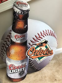 Baltimore Oriels Camden Yards Coors Light metal sign