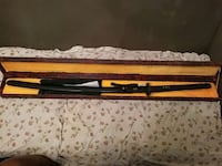 black katana with brown case