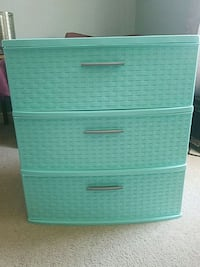 white and blue plastic 3-drawer chest Grand Haven, 49417