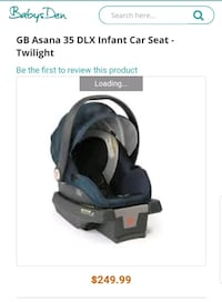 GB Asana 35 DLX Infant Car Seat - Twilight Upper Marlboro, 20772