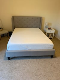 white bed frame with white mattress Alexandria, 22303