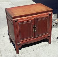 "#19386 Rustic 31 1/2"" Asian Teak Cabinet Oakland"