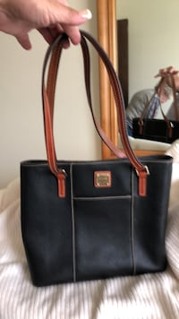 Rooney & Bourke black and brown leather tote bag FREDERICK