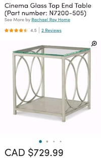 Rachael Ray Glass Top End Table