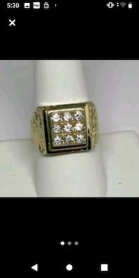 Mens gold nugget ring London, N5W