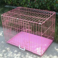 "Pink Metal Dog Crate 36"" Alexandria, 22302"