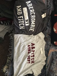two black and gray Abercrombie and Fitch crew-neck t-shirts Stockton, 95209