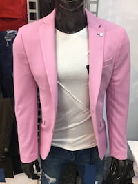 Pink men's slim fit blazer made in turkey premium collection stop by today  Los Angeles, 90046