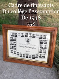 Conventum Du Cours poster with brown wooden frame