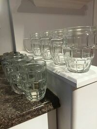 New large glass stein beer mugs (8) Mississauga
