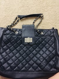 Black faux leather quilted handbag Manchester, 06042