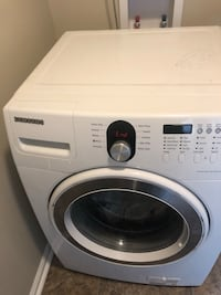white Samsung front-load clothes washer Washington, 20024