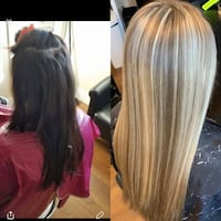 Hair styling cutting and highlight full head in $75 Abbotsford