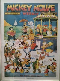 Disney Mickey Mouse weekely July 11 1936 cover art poster Raceland, 70394