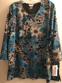 Plus size 3X brand new with tags gorgeous Tan Jay stretchy top Edmonton, T6L 6P5