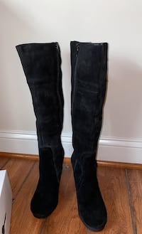 Brand new Nine West blk suede boots sz 7 Chantilly, 20152
