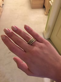 Fossil - Set of 3 gold stackable rings Hamilton, L8J 2N9