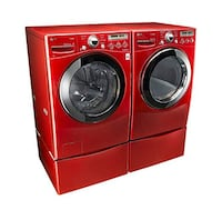 LG FRONT LOADING WASHER AND DRYER WITH PEDESTALS Plano, 75024