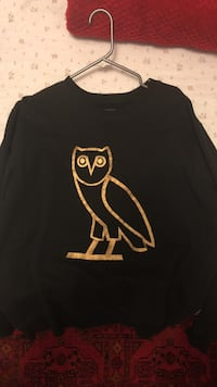 black and yellow owl-printed crew-neck shirt Oakville, L6M 2M6