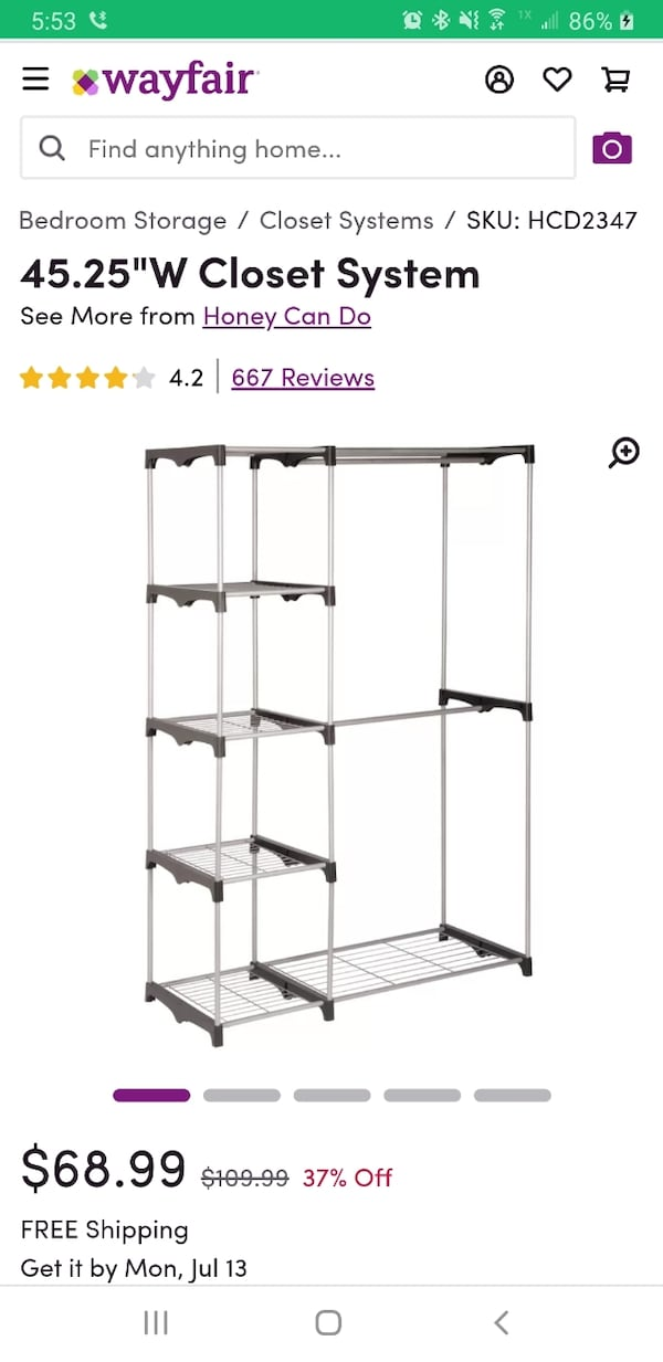 Clothing Rack with Shelves 0