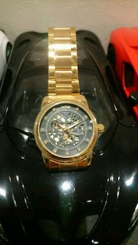 Bentley styled gold tone black diamond watch Toronto, M1H 3G2