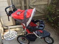 baby's red and black jogging stroller Virginia Beach, 23454