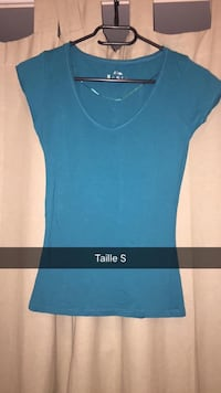 Taille petite taille bleue taille col