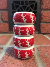 Set of 4: Reindeer Tea Light Holders (Ceramic) Burlington, L7L 5W9