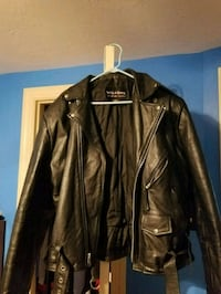 brown leather zip-up jacket Springfield, 01104