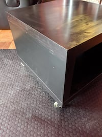 Lack Side Table On Casters Black Brown