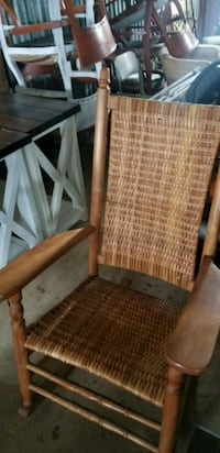 brown wooden framed brown padded armchair Oxford, 19363