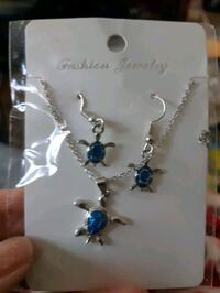 Turtle Necklace and earrings